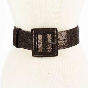 ALICE & OLIVIA Brown Sparkle Belt